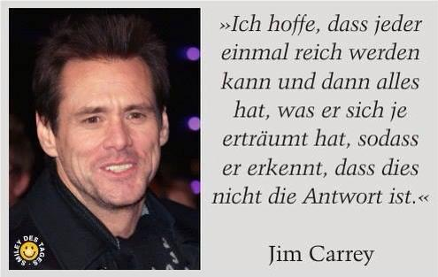 Jim Carrey - beeing rich is not the answer