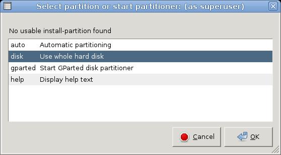 knoppix65 install to harddisk2