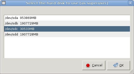 knoppix65 install to harddisk3