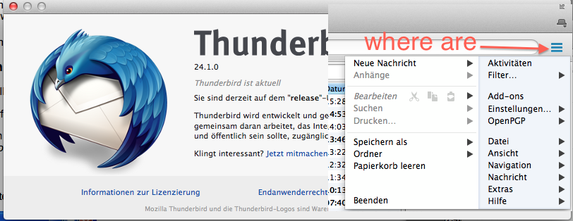 thunderbird v24 addons openpgp wizard