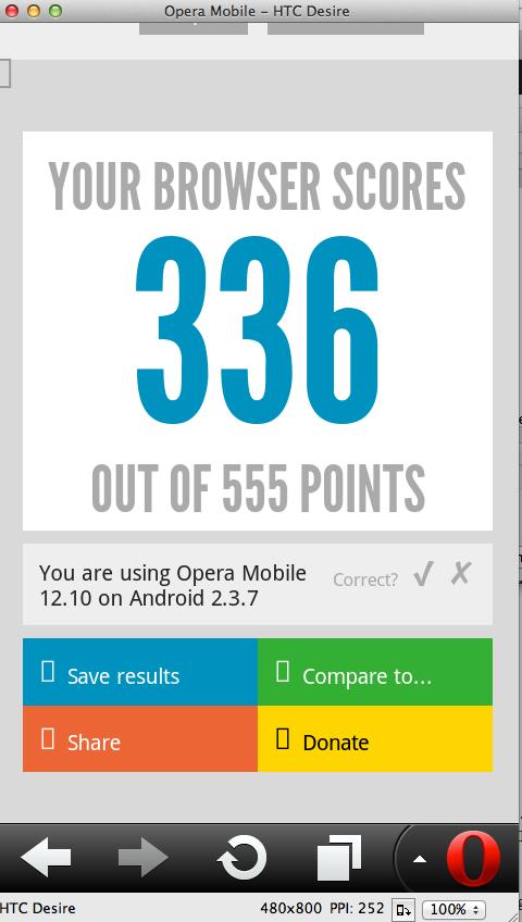html5 opera mobile score