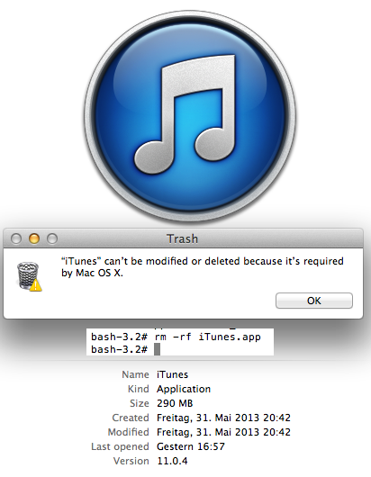 iTunes is required by OSX