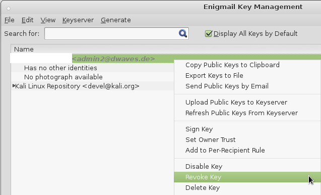 icedove-thunderbird-enigmail-pgp-revoce-certificate-key