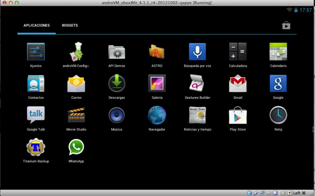 virtualbox android