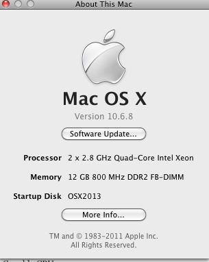 OSX 32Bit more than 4GB of RAM 12 GB of RAM