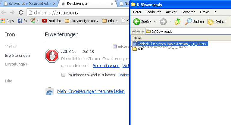 how to add adblock plus to sware iron step2