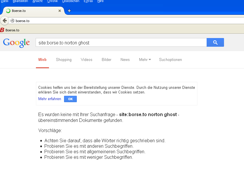 google starts filtering boerse.to