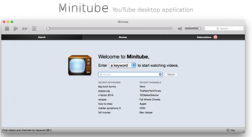 minitube linux screenshot