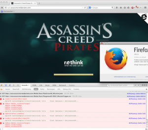 asassins creed in browser - looks like no browser but ie is supported.
