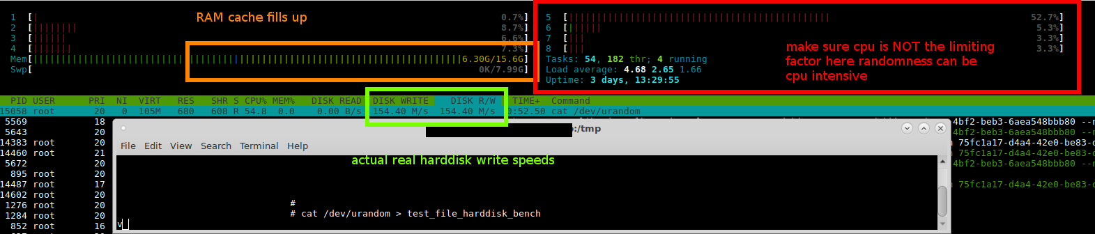 GNU Linux – sequential read write harddisk benchmark – small files python harddisk benchmark