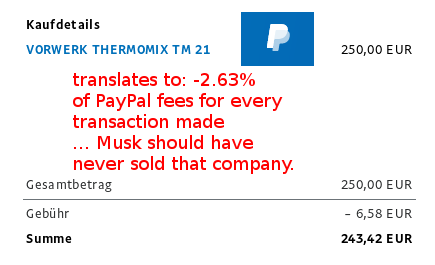How much is paypal charging? Wie viel kostet paypal an Gebühren? – 2015 = 1.97% 2019 = 2.63% of every transaction