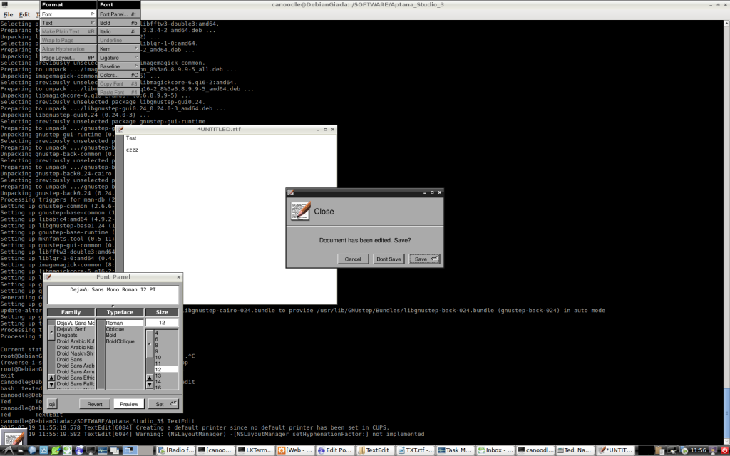 TextEdit Linux