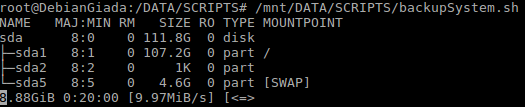 backup system with dd