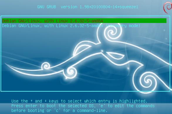 grub2 debian boot screen splash image