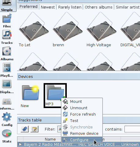jajuk devices configure