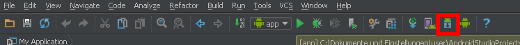 android studio sdk manager icon start