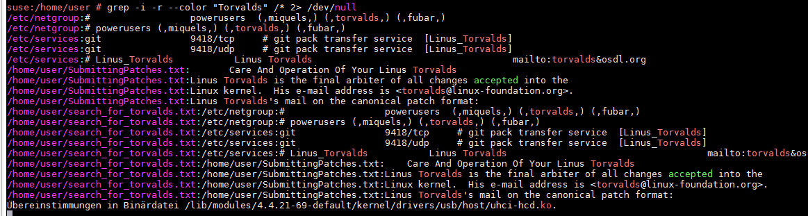 Linux Bash -> FIND SEARCH FILE CONTENT TEXT STRING – output