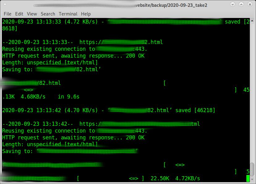 GNU Linux – bash script – WebHTTrack and wget – Recursively download/backup entire Website