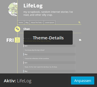 wordpress theme lifelog