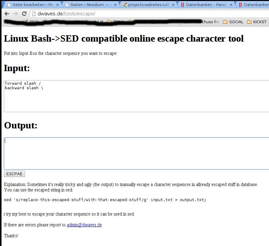 dwaves.de tools escape screenshot