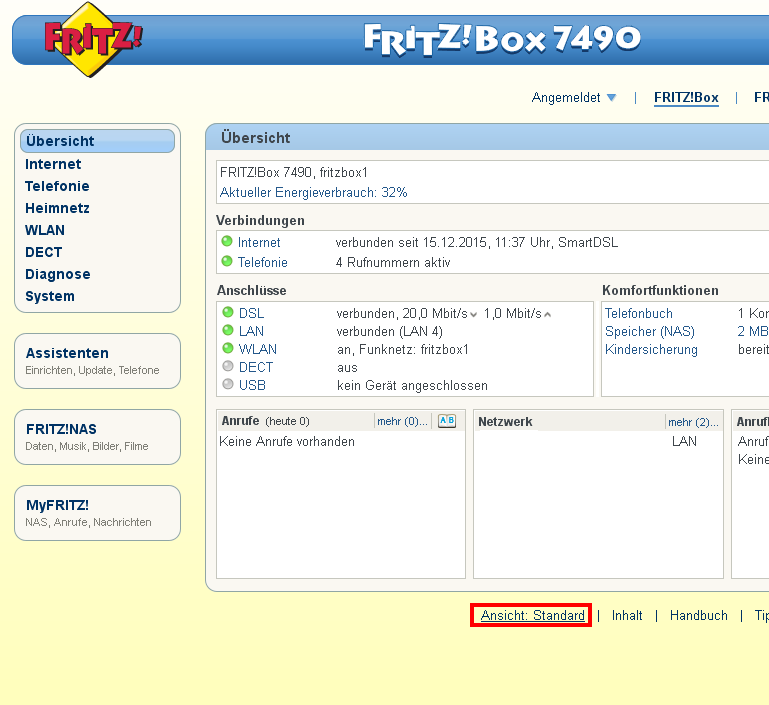 Fritzbox 7490 IP Adresse ändern