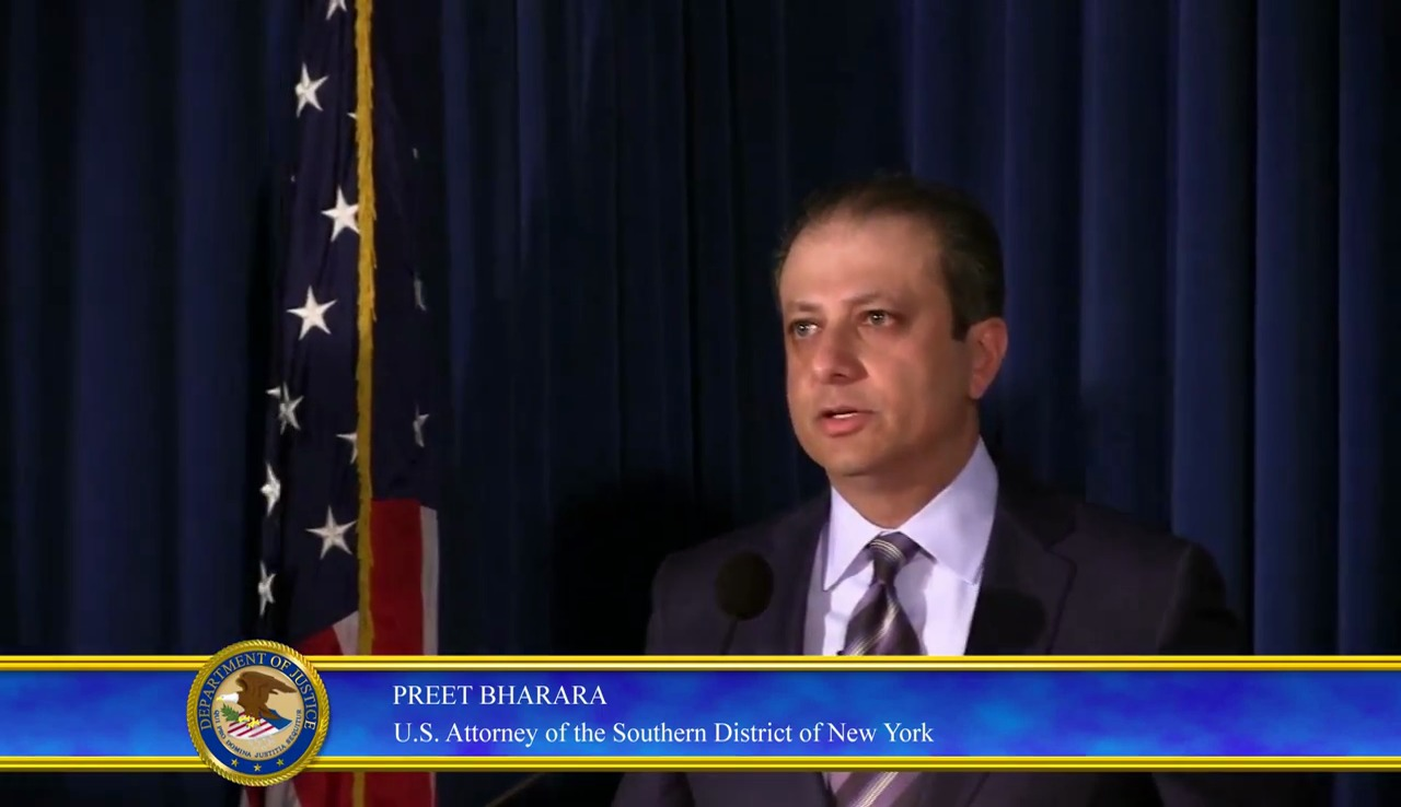 Preet Bharar US Attorney of Southern District of New York - JPMorgan Hack Stock Price manipulation2