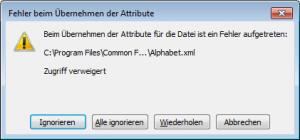 program files zugriff verweigert