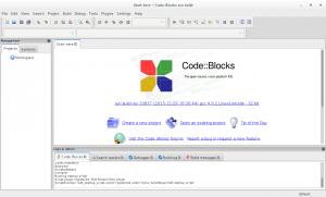 codeblocks editor linux screenshot