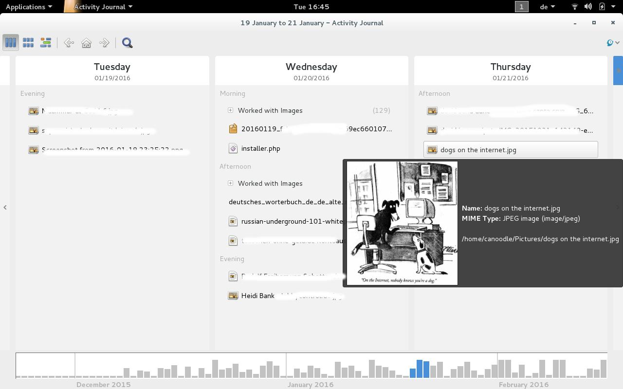 zeitgeist datahub gnome-activity-journal2