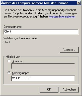 client workgroup modify windows 7