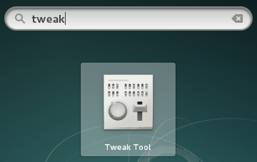 tweak tool gnome3