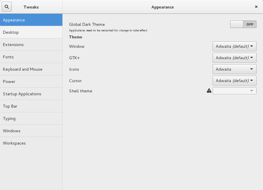 tweak tool gnome3_10