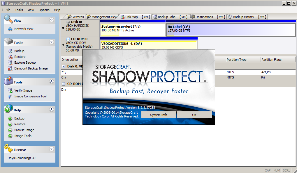 ShadowProtect Backup Software - Screenshot2