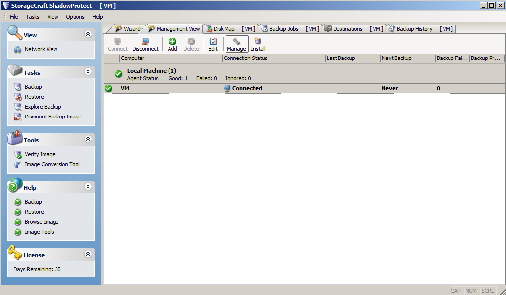ShadowProtect Backup Software - Screenshot3