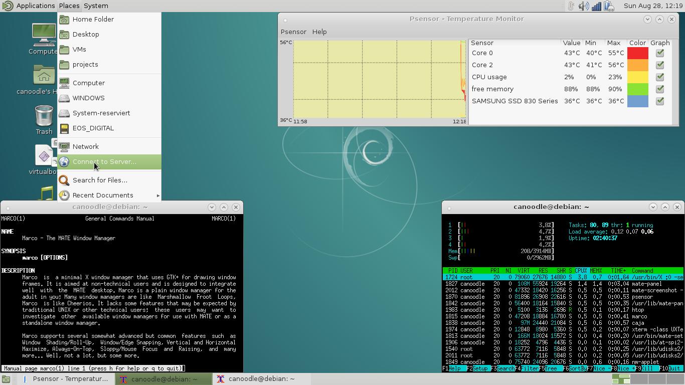 MATE screenshot consuming 213MByte RAM