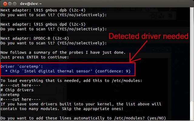 linux scan for sensors