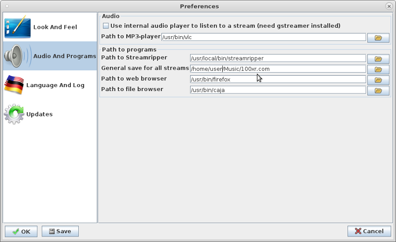 Linux -> Debian -> Recording WebRadio Stations under CentOS7 UPDATED