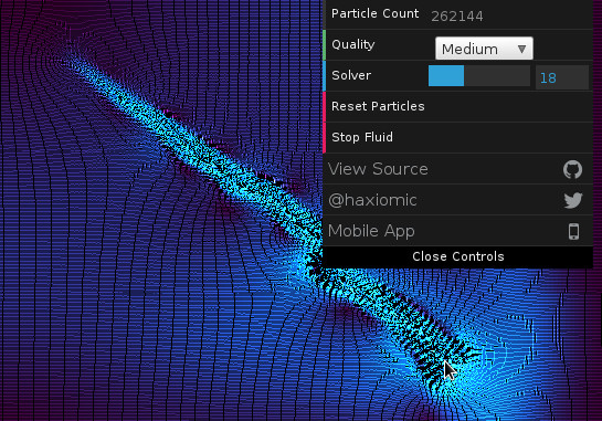 Extremely cool javaScript (from c++ source) that simulates liquid in your browser