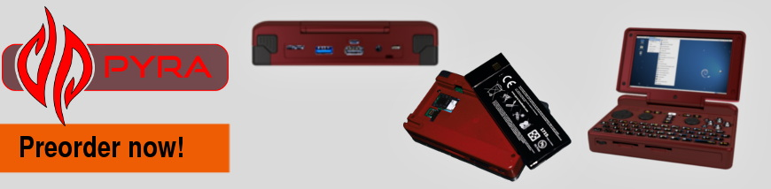 Open (Plans-Source) Hardware – DragonBox Pyra – designed in Germany