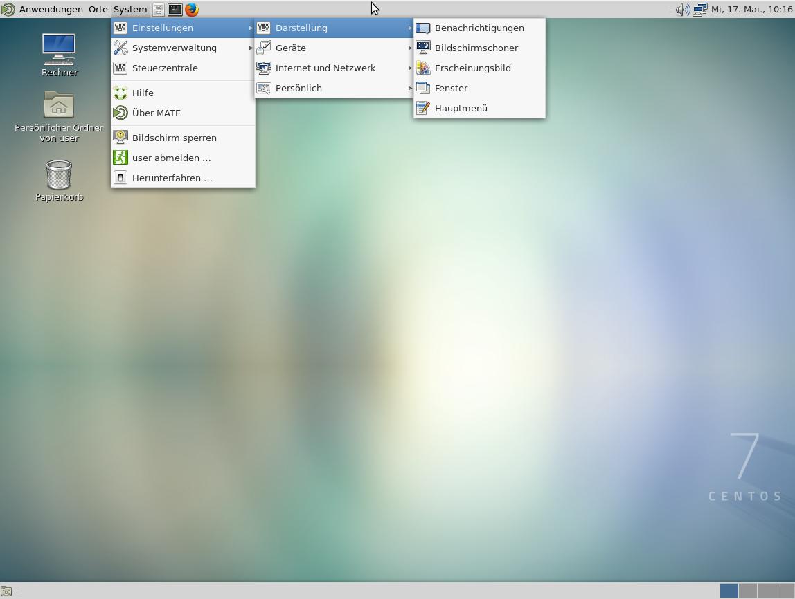 linux CentOS7 – install MATE Gnome2 based Desktop
