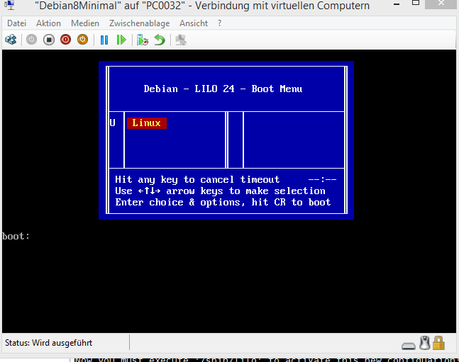 installing lilo boot loader on debian8 – just because you can