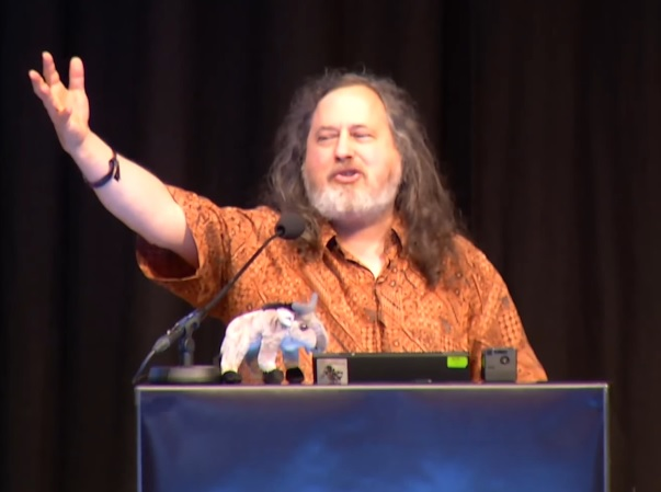 Stallmann about Free Software – what OS is Mr Stallman using?
