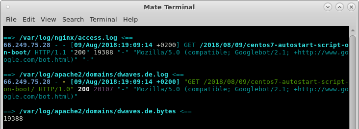 linux monitor all logs in real time :-D – follow all – show changes to log files under /var/log