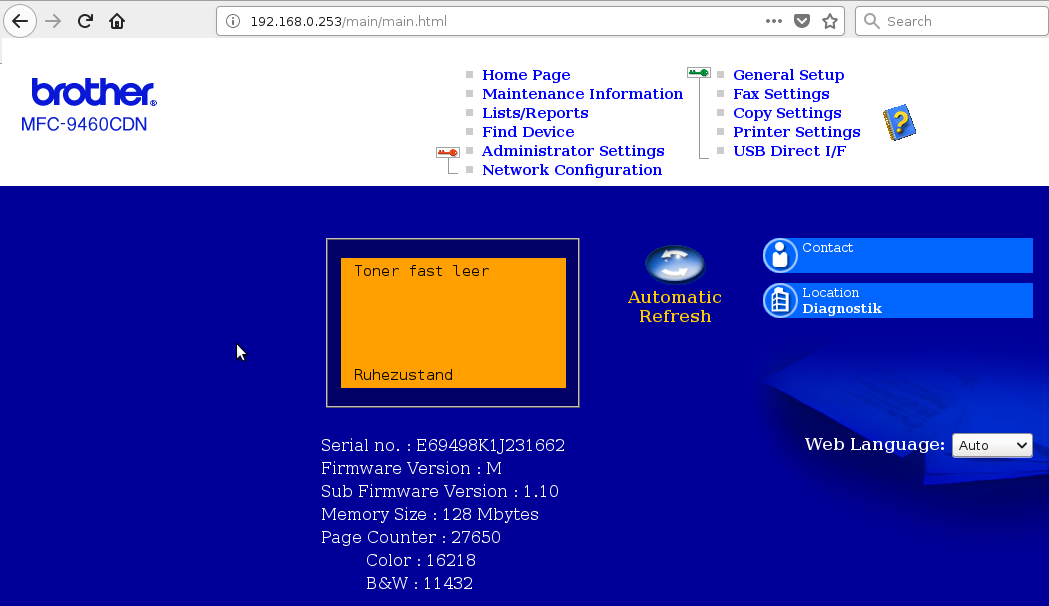 Scanning over LAN Network with Debian Linux and Brother 9460