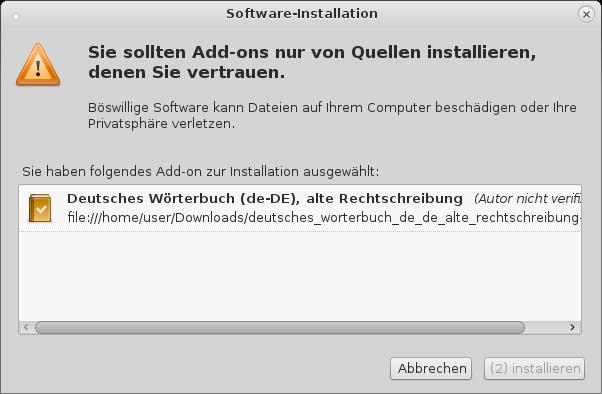 Howto Wie man in Firefox und Thunderbird Neue und Alte Deutsche Rechtschreibprüfung aktiviert und Wörterbuch installiert