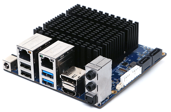 update 2019-10 – HardKernel new Odroid H2 powerfull embedded x86 with dual SATA – it is a proper desktop replacement – comparable to i5 quad core! wow!
