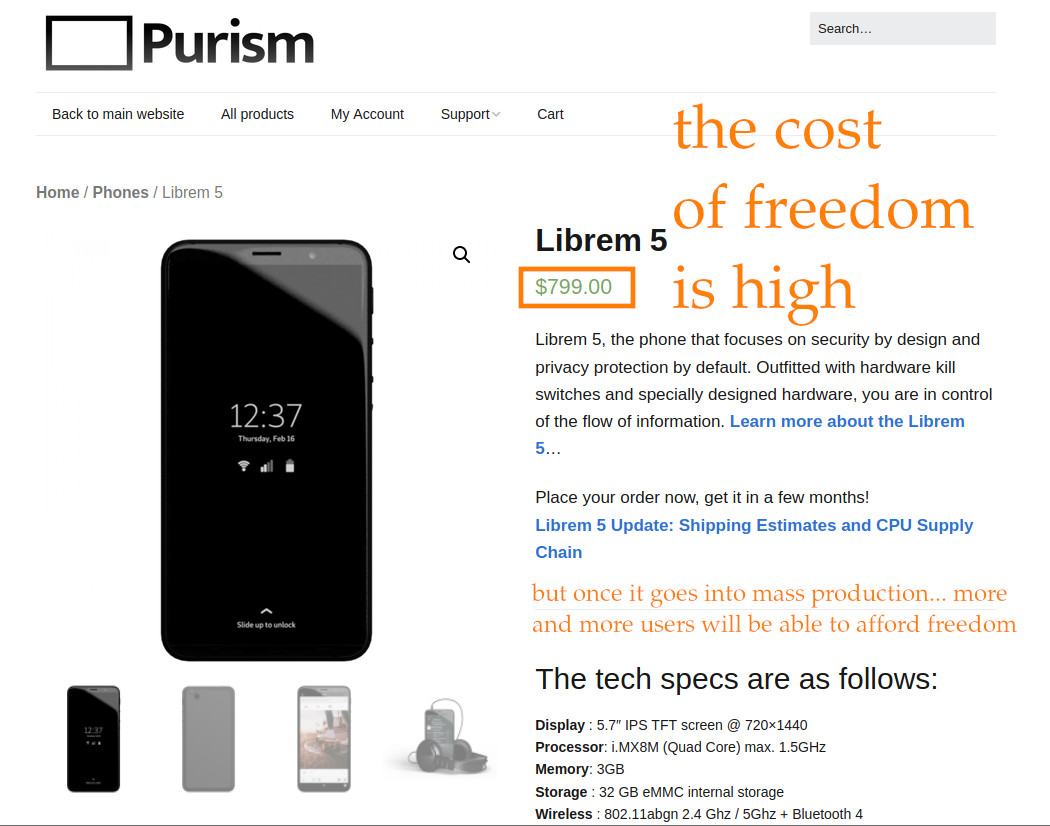 Purism making progress on Librem5 SmartPhone – privacy & freedom in mass production