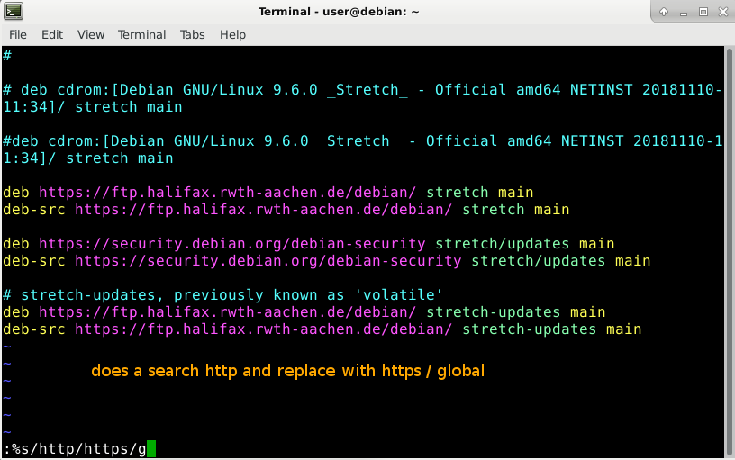 https vs http – GNU Linux Debian package manager redirect exploit – be paranoid on your next apt update apt upgrade