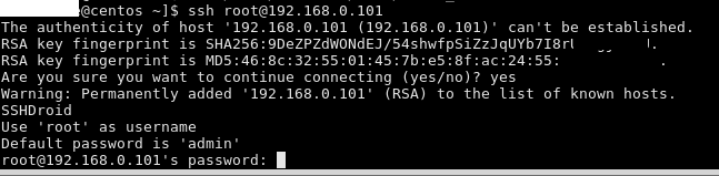 how to ssh into your android phone