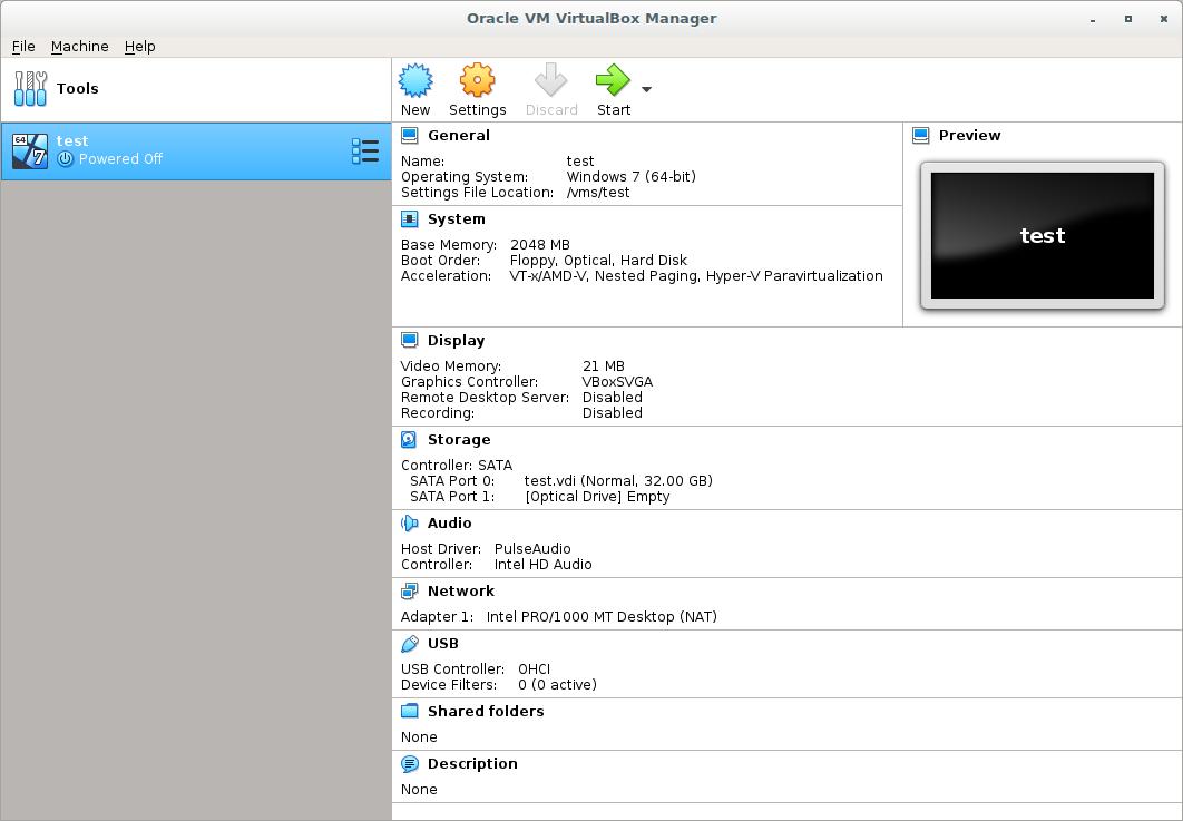 "Debian 9.8 ""stretch"" setup of VirtualBox 6.0 with Cinnamon Desktop"